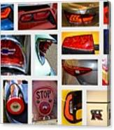 Tail Light Collage Number 1 Canvas Print