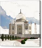 Taj Mahal Dreams Of India Canvas Print