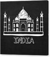 Taj Mahal India Canvas Print