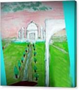Taj Mahal Noon Canvas Print
