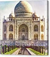 Taj Mahal - Paint Canvas Print