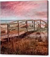 Take A Long Walk Into Dawn Canvas Print