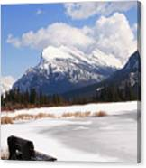 Take A Seat At Vermillion Lake Canvas Print