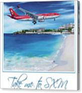 Take Me To Sxm- Poster Canvas Print