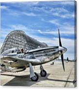 Take Off P-51 Mustang  Canvas Print