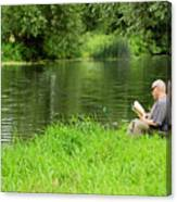 Taking A Break From Fishing Canvas Print