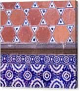 Talavera Tiles Puebla Mexico Canvas Print