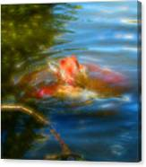Tale Of The Wild Koi 2  Canvas Print