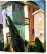 Tall Houses At The Beach Canvas Print