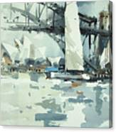 Tall Sails In Sydney Canvas Print