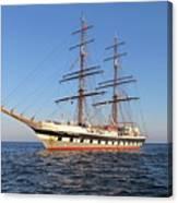 Tall Ship Anchored Off Penzance Canvas Print