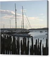 Tall Ship At Dock Canvas Print
