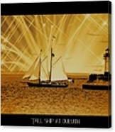 Tall Ship At Duluth Canvas Print