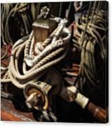 Tall Ship Details Canvas Print