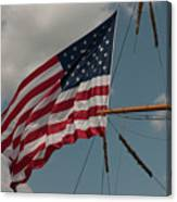 Tall Ship Flag I Canvas Print