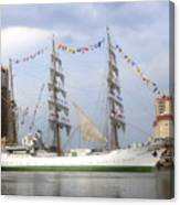 Tall Ship In Tampa Bay Canvas Print