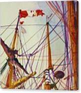Tall Ship Lines Canvas Print