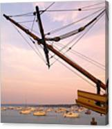 Tall Ship Mayflower II In Plymouth Massachusetts Canvas Print