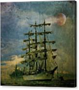 Tall Ship New York Harbor 1976 Canvas Print