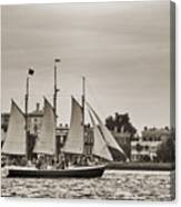 Tall Ship Schooner Pride Off The Historic Charleston Battery Canvas Print