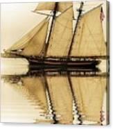 Tall Ship Sepia  Canvas Print