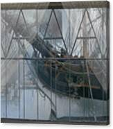 Tall Ship Through A Window Canvas Print