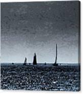 Tall Ships Halifax 2017 - Parade Of Sail Canvas Print