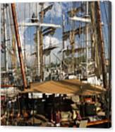 Tall Ships Heritage Landing Canvas Print