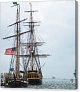 Tall Ships Hms Bounty And Privateer Lynx At Peanut Island Florida Canvas Print
