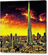 Tallest Building In The World Canvas Print
