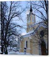 Tallin Church In Winter Canvas Print