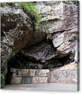 Tallulah Gorge Stone Bench 2 Canvas Print