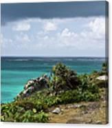 Talum Ruins Mexico Ocean View Canvas Print