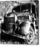 Tam Truck Black And White Canvas Print