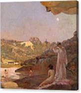 Tamarama Beach Forty Years Ago A Summer Morning  Canvas Print