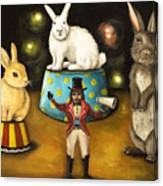 Taming Of The Giant Bunnies Canvas Print