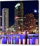 Tampa Bay Pano Lights Canvas Print