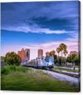 Tampa Departure Canvas Print