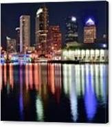 Tampa In Vivid Radiant Color Canvas Print