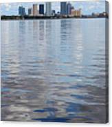 Tampa Skyline Over The Bay Canvas Print