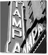 Tampa Theatre Bw Canvas Print