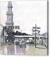 Tampa Tower At Hillsborough Intersection Canvas Print