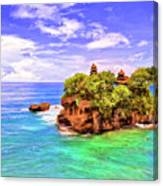 Tanah Lot Temple Bali Canvas Print
