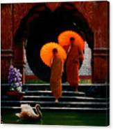Tangerine Parasols Canvas Print