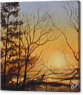 Tangerine Sky Canvas Print