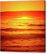 Tangerine Sunset Canvas Print