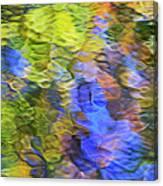 Tangerine Twist Mosaic Abstract Art Canvas Print