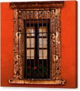 Tangerine Window Canvas Print