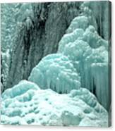 Tangle Falls Frozen Blue Cascades Canvas Print