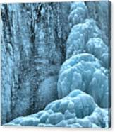 Tangle Falls Frozen In Blue Canvas Print